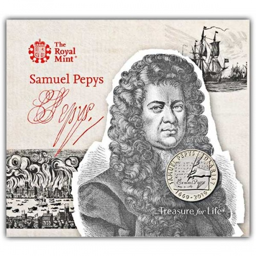 Samuel Pepys 2019 UK £2 Brilliant Uncirculated Coin