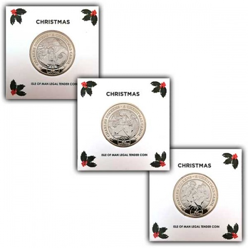 A Christmas Carol Three Coin Set 2020 £2 Uncirculated Bi-Metal Coin