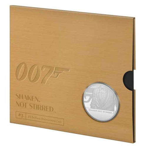 Shaken Not Stirred 2020 UK £5 Brilliant Uncirculated Coin