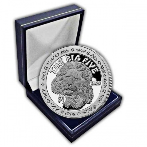 The Big Five 2001 The Lion Cupro Nickel Coin