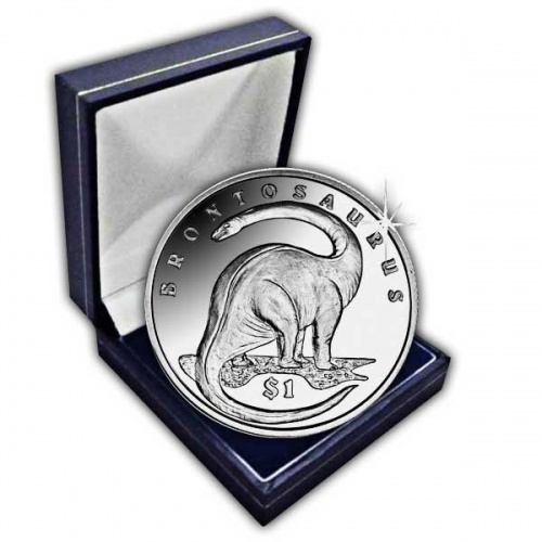 Sierra Leone 2006 Lost World of the Dinosaurs Brontosaurus Uncirculated Cupro Nickel Coin
