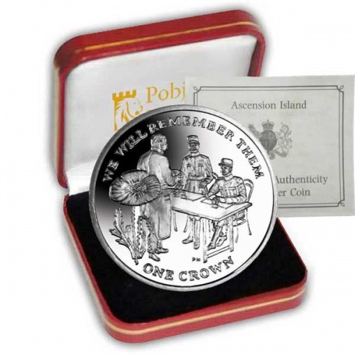Centenary of World War I 2014 Signing of the Armistice Silver Coin