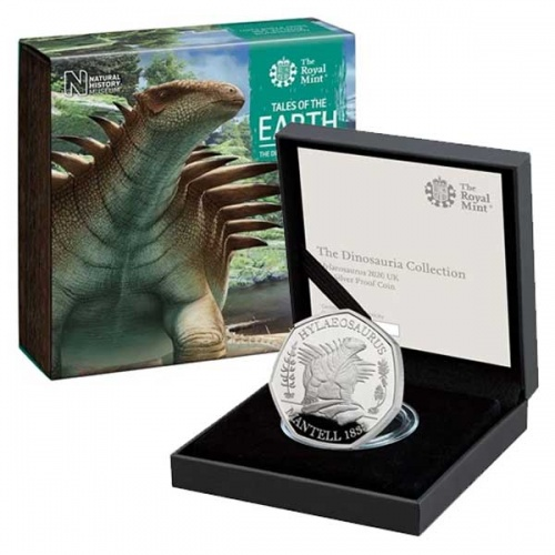Hylaeosaurus 2020 UK Silver Proof 50p Coin