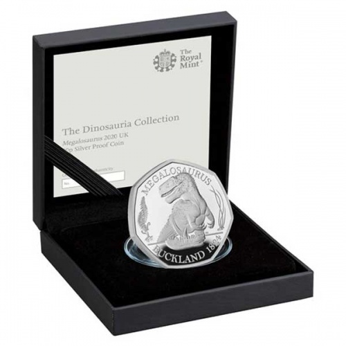 Megalosaurus 2020 UK Silver Proof 50p Coin