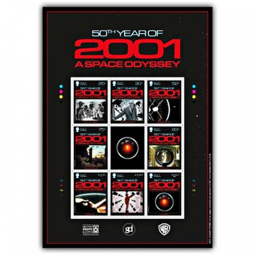 2001: A Space Odyssey Stamp Sheetlet (CTO)