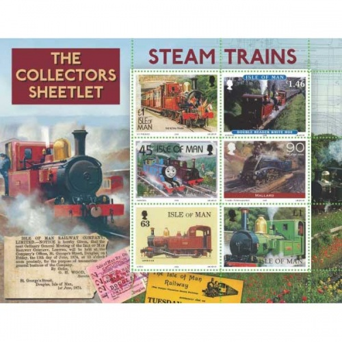 Steam Trains Collector's Sheet