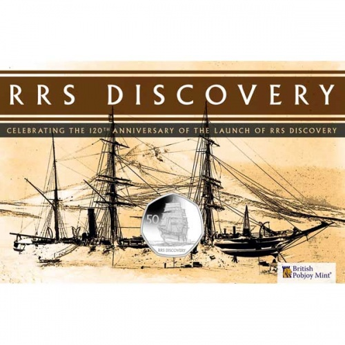 RRS Discovery 2021 Uncirculated Diamond Finish 50p Coin