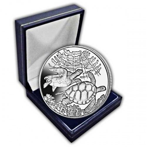 The 2017 Pacific Green Turtle Cupro Nickel Coin