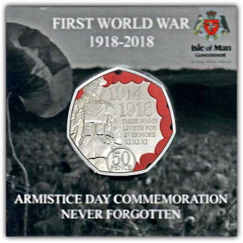 The 2018 Armistice Day Poppy 50p Cupro Nickel Coin