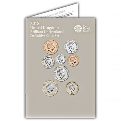 The 2018 United Kingdom Brilliant Uncirculated Definitive Coin Set