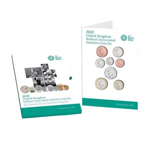 The 2020 United Kingdom Brilliant Uncirculated Definitive Coin Set