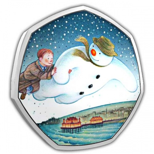 The 40th Anniversary of The Snowman 50p Silver Proof Coin