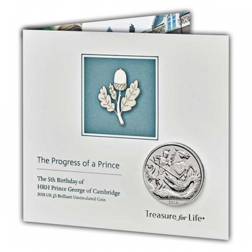 The 5th Birthday of HRH Prince George 2018 UK £5 Brilliant Uncirculated Coin