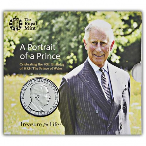 The 70th Birthday of HRH the Prince of Wales 2018 UK £5 Brilliant Uncirculated Coin