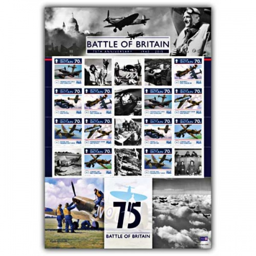 The Battle of Britain 75th Anniversary Commemorative Mint Sheet