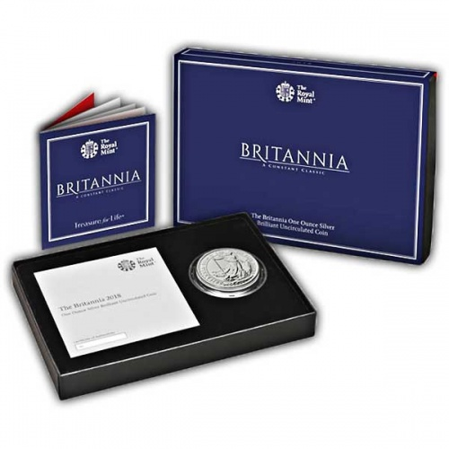 The Britannia 2018 One Ounce Silver Brilliant Uncirculated Coin