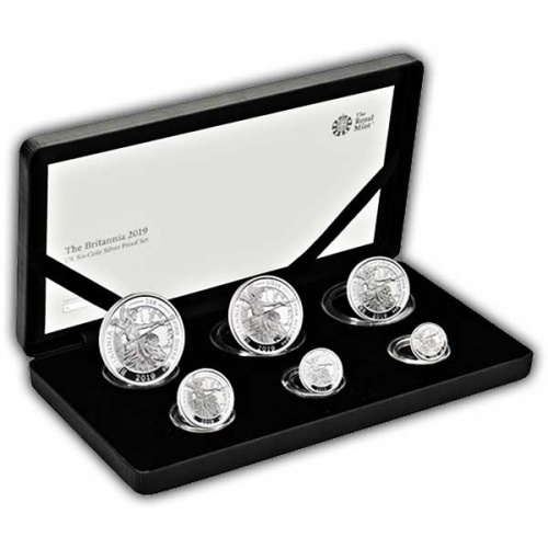 The Britannia 2019 UK Six-Coin Silver Proof Set