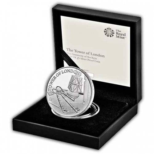 The Ceremony of the Keys 2019 UK £5 Silver Proof Coin