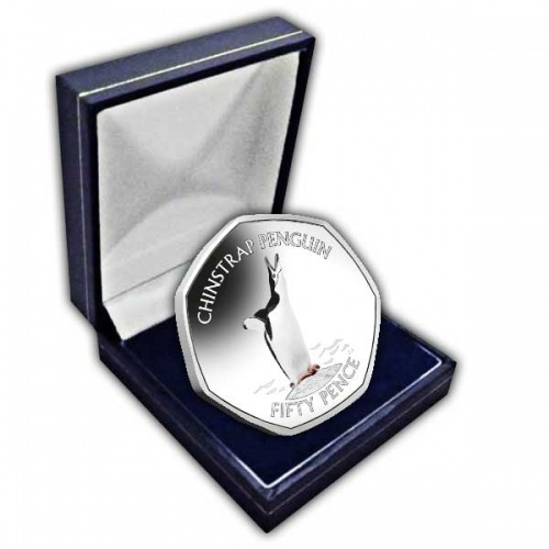 The Chinstrap Penguin 2020 50p Cupro Nickel Coloured Coin