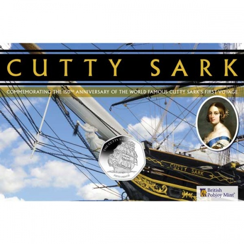The Cutty Sark 2020 Uncirculated Diamond Finish 50p Coin