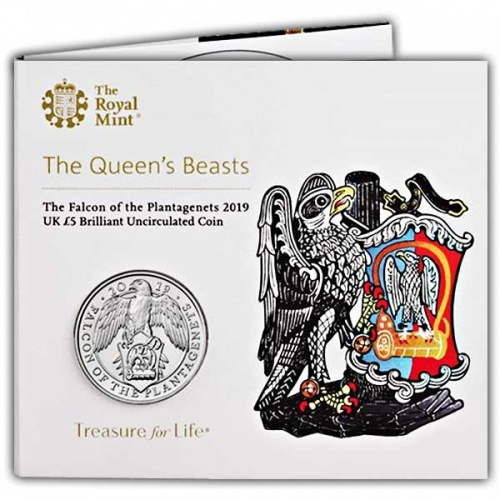 The Falcon of the Plantagenets 2019 UK £5 Brilliant Uncirculated Coin