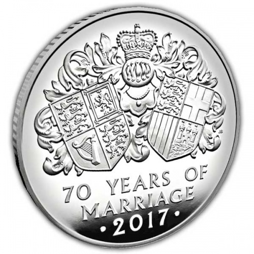 The Platinum Wedding Anniversary of Her Majesty the Queen 2017 UK Quarter Ounce Platinum Proof Coin