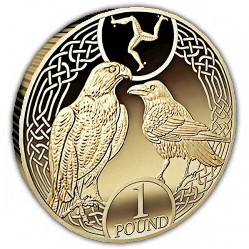 The Raven and Falcon 2017 £1 Nickel Brass Coin