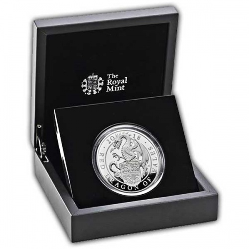 The Red Dragon of Wales 2018 UK Five-Ounce Silver Proof Coin