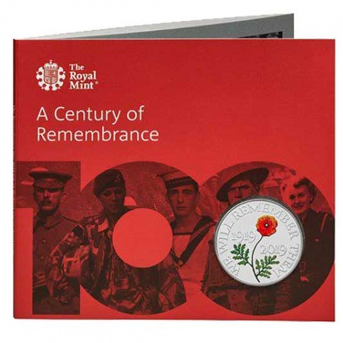 The Remembrance Day 2019 UK £5 Brilliant Uncirculated Coin