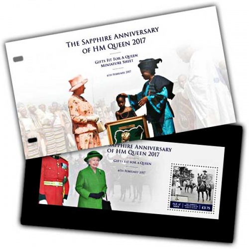 The Sapphire Anniversary of HM Queen - Gifts fit for a Queen Miniature Sheet Presentation Pack