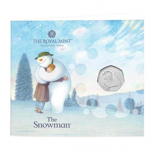 The Snowman 2020 UK 50p Brilliant Uncirculated Coin Greetings Card
