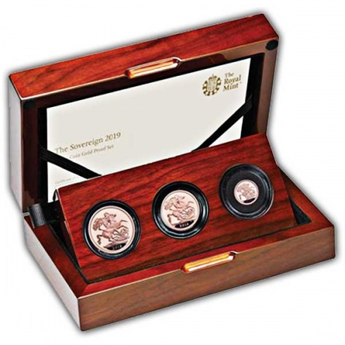 The Sovereign 2019 Three-Coin Gold Proof Set