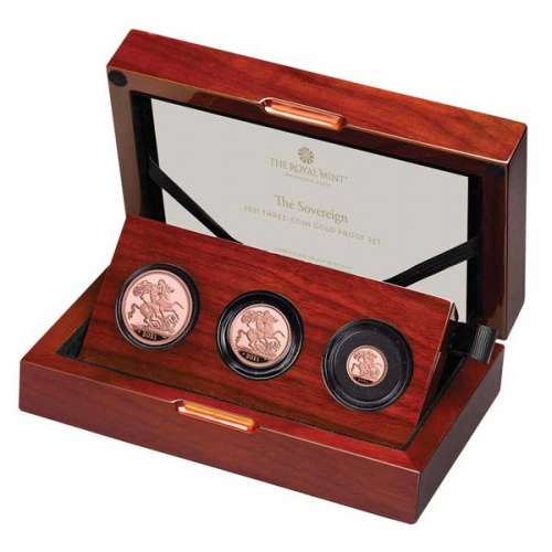 The Sovereign 2021 Three-Coin Gold Proof Set