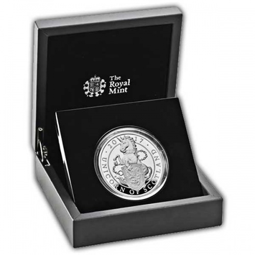 The Unicorn of Scotland 2017 UK Five-Ounce Silver Proof Coin