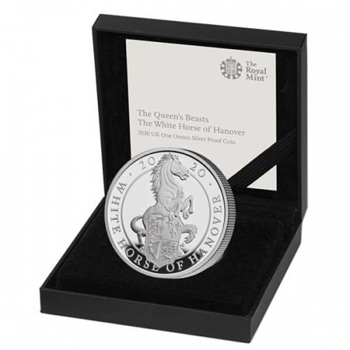The White Horse of Hanover 2020 UK One Ounce Silver Proof Coin