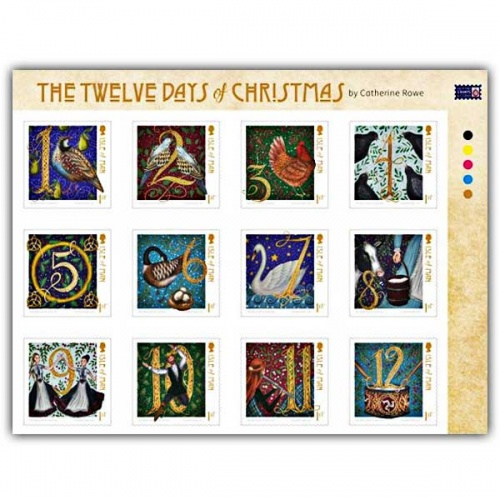 Twelve Days of Christmas Self Adhesive Set (Mint)