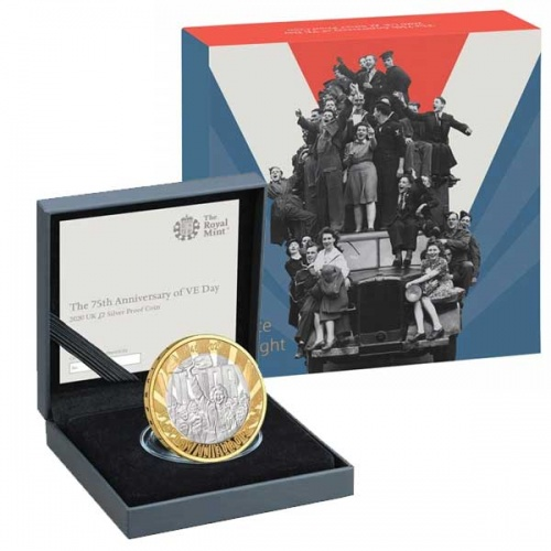 VE Day 2020 UK £2 Silver Proof Coin