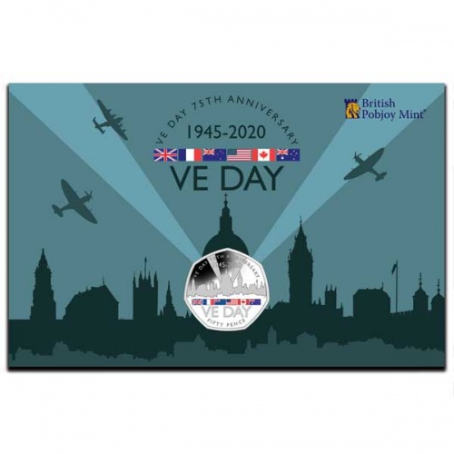 VE-Day 75th Anniversary 2020 Cupro Nickel 50p Coin Pack
