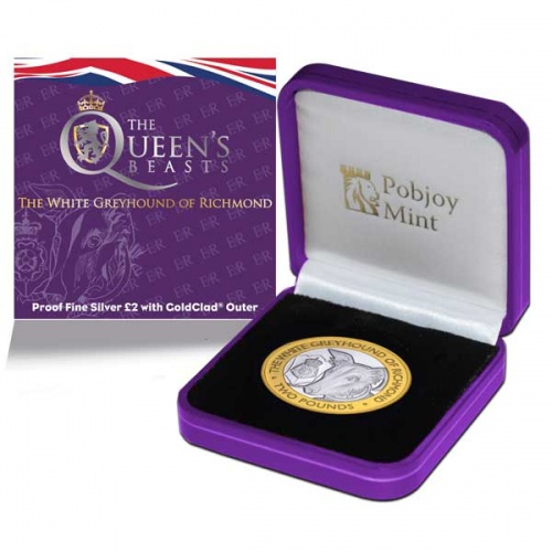 Queen's Beast – The White Greyhound of Richmond 2021 £2 Silver Proof Coin
