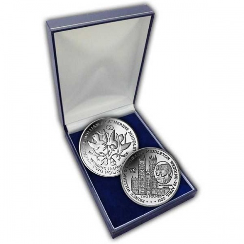 The 2011 Royal Wedding Cupro Nickel Two Coin Set