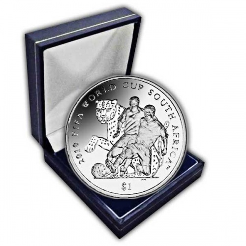 The 2010 FIFA World Cup South Africa Cupro Nickel Coin