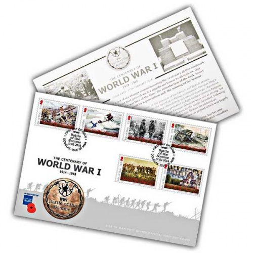 Centenary of World War I 1914-1918 - Battle of the Somme First Day Cover