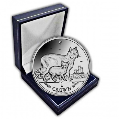 The 2012 Manx Cat Cupro Nickel Coin