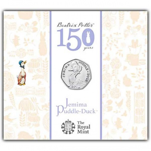 Jemima Puddle-Duck UK 50p BU Coin