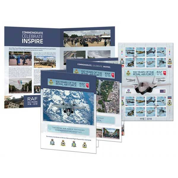 100 Years of the Royal Air Force Special Flypast Commemorative Sheetlet