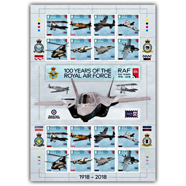 100 Years of the Royal Air Force Commemorative Sheetlet Mint