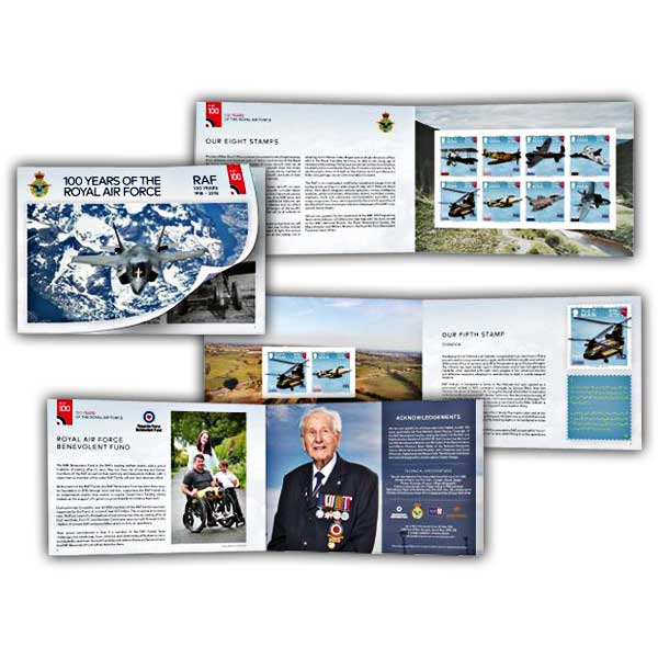 100 Years of the Royal Air Force Prestige Mint Booklet