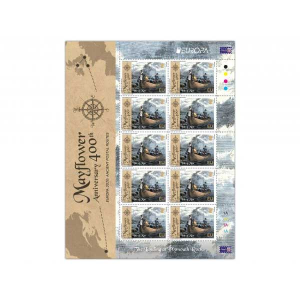 The 400th Anniversary of the Mayflower Europa Sheetlet (Mint)