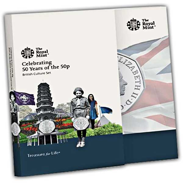 50 Years of the 50p Brilliant Uncirculated Coin Set