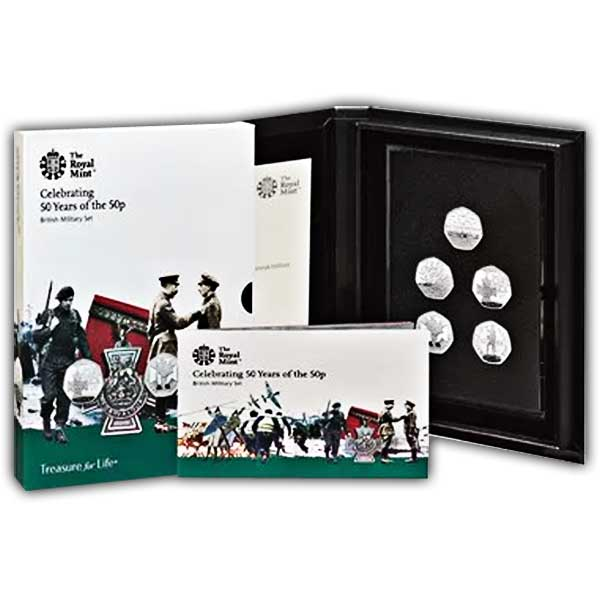 50 years of the 50p - Base Proof Coin Set - Military